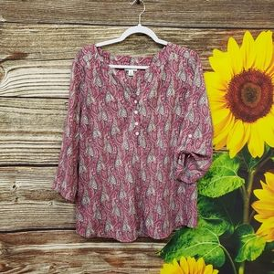 Croft & Barrow mid Sleeve blouse Size XL Pre-owned